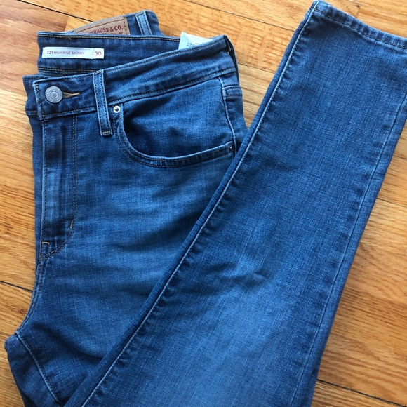 97b45688c4d735 Levi's Jeans   Levis 721 High Rise Skinny In Blue Story   Poshmark